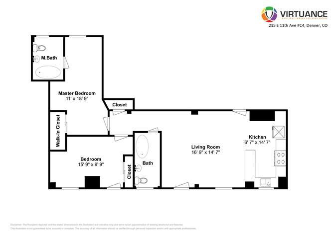 215 E 11th Ave C4 Denver CO-small-001-001-Floorplan-666x472-72dpi